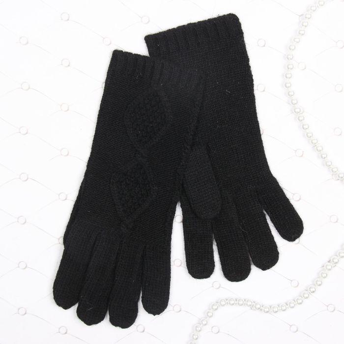 """Перчатки женские """"Айседора"""", размер 18 (р-р произв. L-23см), цвет чёрный 58869"""