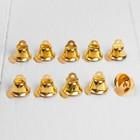 Колокольчик, набор 10 шт., размер 1 шт. 1,4 см, цвет золотой