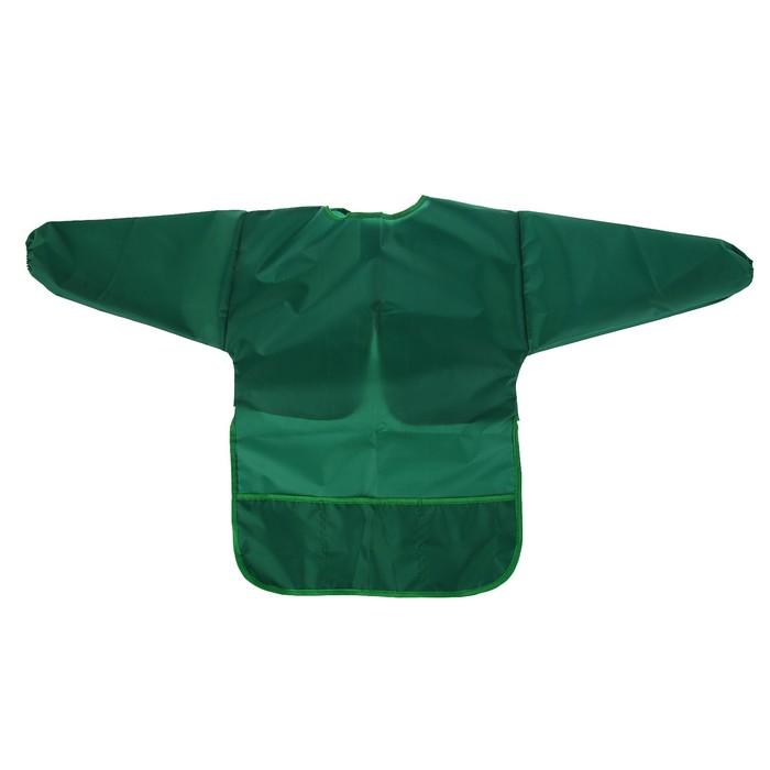 Фартук-накидка с рукавами для труда Calligrata, 610*440 мм, 3 кармана, зелёный