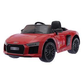 Электромобиль AUDI R8 Spyder, окраска глянец красный, EVA колеса, кожаное сидение УЦЕНКА