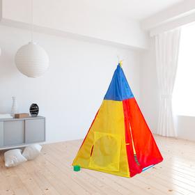 Палатка детская «Разноцветный домик», 142 × 100 × 100 см