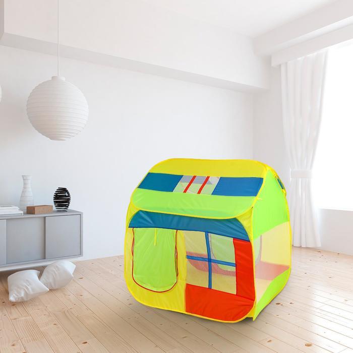 Палатка детская «Домик с окном», зелёный, 140 × 125 × 125 см