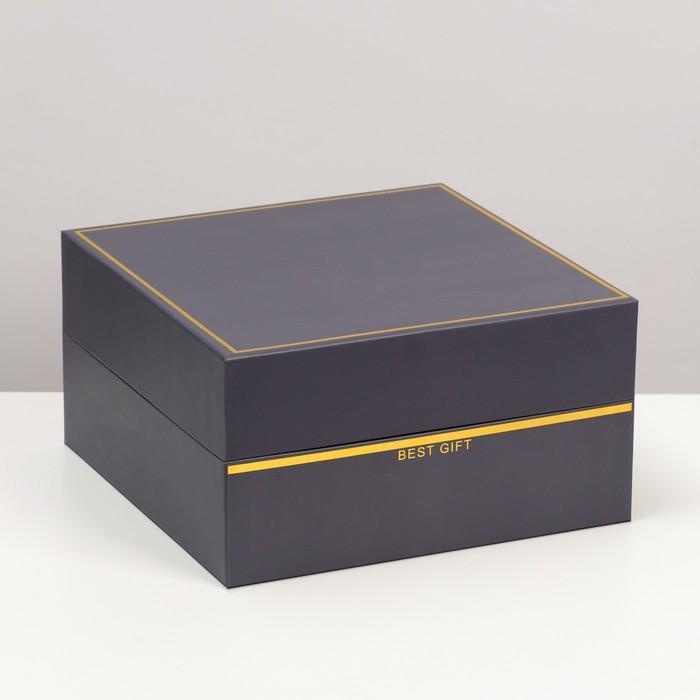 Коробка подарочная, 28 х 28 х 15 см - фото 8877846