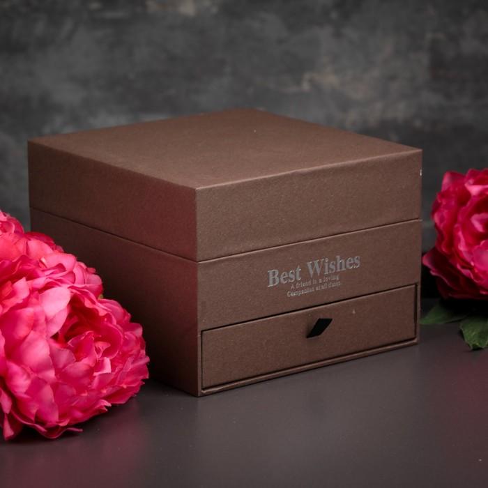 Коробка подарочная, 20 х 20 х 14 см - фото 8877850