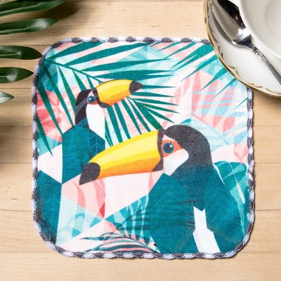 "Towel microfiber ""Toucan"" 20x20 cm"