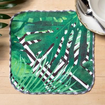 """Towel microfiber """"Tropics"""" 20x20 cm"""