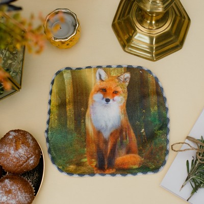 "Towel ""Fox"", 20 × 20 cm, microfiber, 400 g/m2"