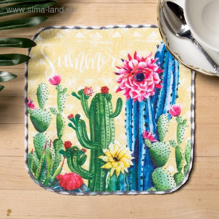 """Towel microfiber """"Cactus"""" 20x20 cm"""