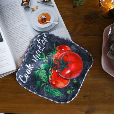 "Towel ""Tomato"", 20 × 20 cm, microfiber, 400 g/m2"