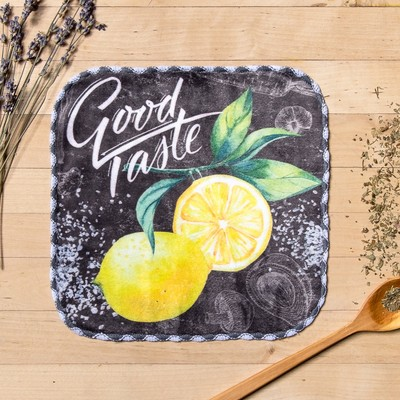 "Towel ""Lemon"", 20 × 20 cm, microfiber, 400 g/m2"