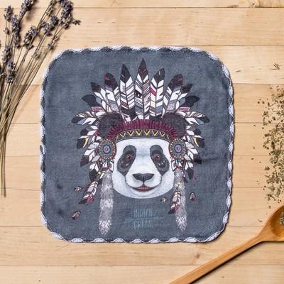 """Towel microfiber """"Panda"""" 20x20 cm"""