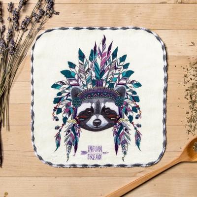"Towel microfiber ""Raccoon"" 20x20 cm"