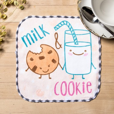 "Towel microfiber ""Milk"" 20x20 cm"