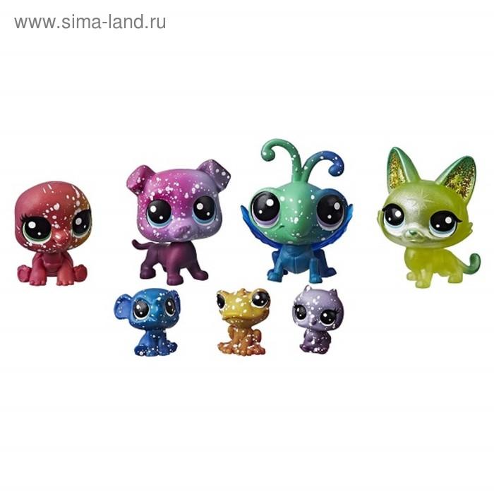 Фигурки космических питомцев Littlest Pet Shop, 7 шт
