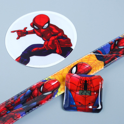 "Set the clock and reflective stickers ""Super hero"", spider-Man"