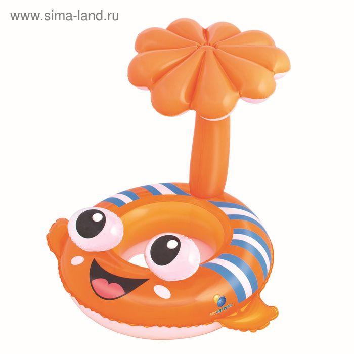 """Круг для плавания с сиденьем и тентом от солнца """"Рыба-клоун"""""""