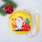 Мягкая сумочка «Дед Мороз», на мешке снежинки