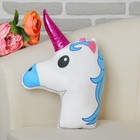 "Soft toy-pillow ""Unicorn"" double sided, blue mane"