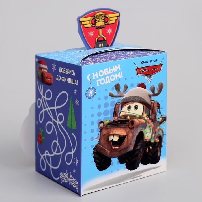 """Коробка подарочная """"С Новым годом"""", Тачки, 8 х 10 х 8 см"""