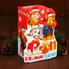 Подарочная коробка «С Новым Годом!», PAW PATROL, 10 х 10 х 20 см
