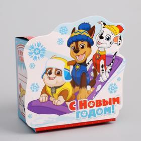 Подарочная коробка «С Новым Годом!», PAW PATROL , 11 х 11 х 8 см