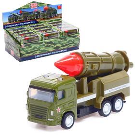 Машина металлическая «Ракетница», 8,5 см, инерционная, цвета МИКС