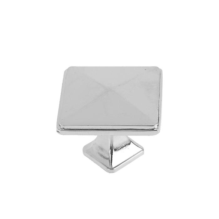 Ручка кнопка РК017CP, цвет хром - фото 699023227