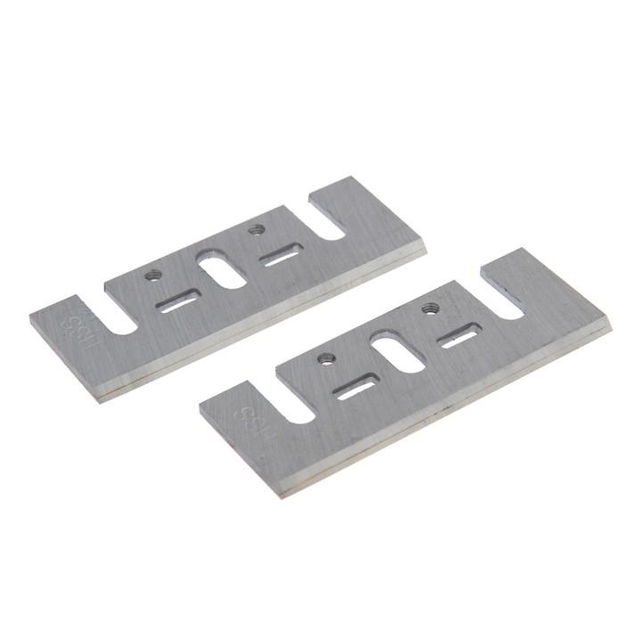 Ножи для электрорубанка TUNDRA basic, HSS, 82 x 29 мм, 2 шт.