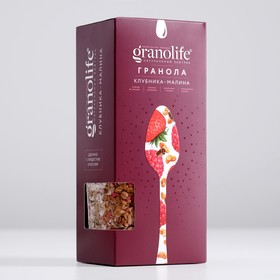 Гранола granolife Клубника-малина, 400 г