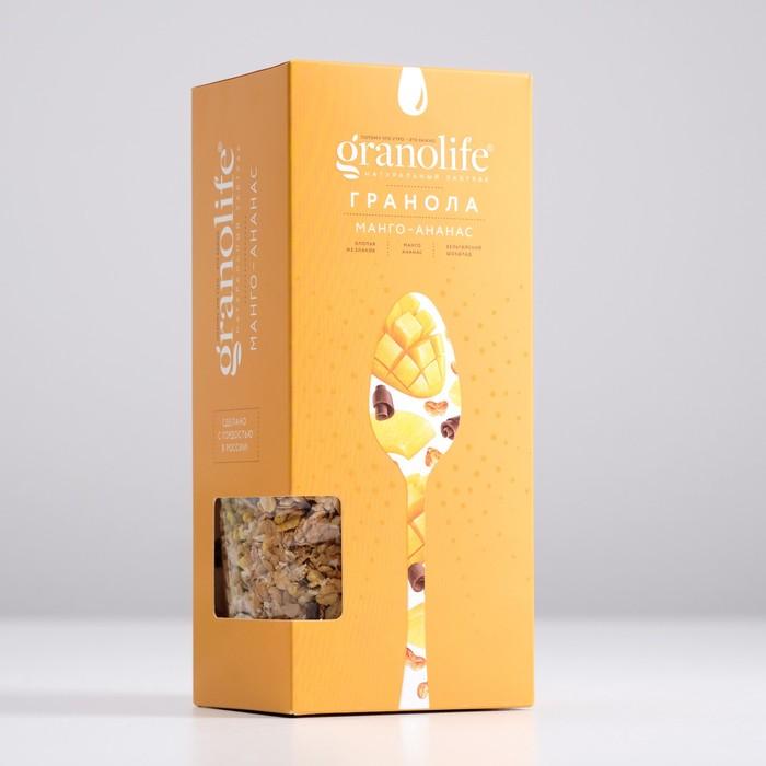 Гранола granolife Манго-ананас, 400г - фото 17591