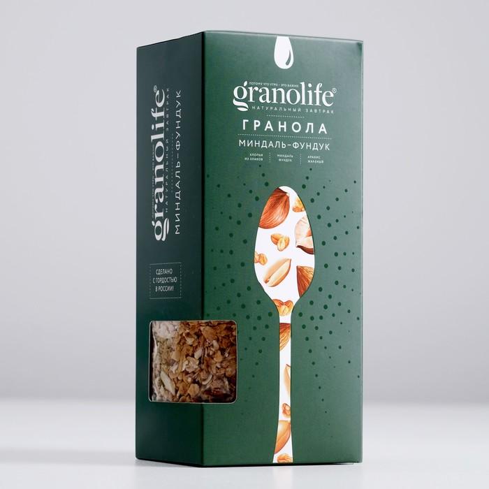 Гранола granolife Миндаль-фундук, 400г - фото 16337