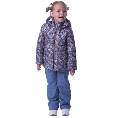 Комплект для девочки, рост 104 см, цвет синий