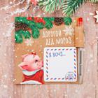 "Блок для записей с ручкой ""Дорогой Дед Мороз, я хочу"""