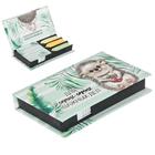 """Бумажный блок в пластиковом футляре """"Для самых-самых важных дел"""": 100 листов и 3 набора стикеров"""