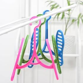 Вешалка-сушилка для обуви «Следы», цвет МИКС - фото 4634957