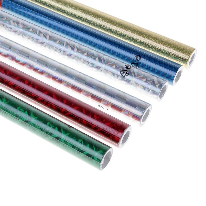 Бумага металлизированная голографическая 40*100см микс