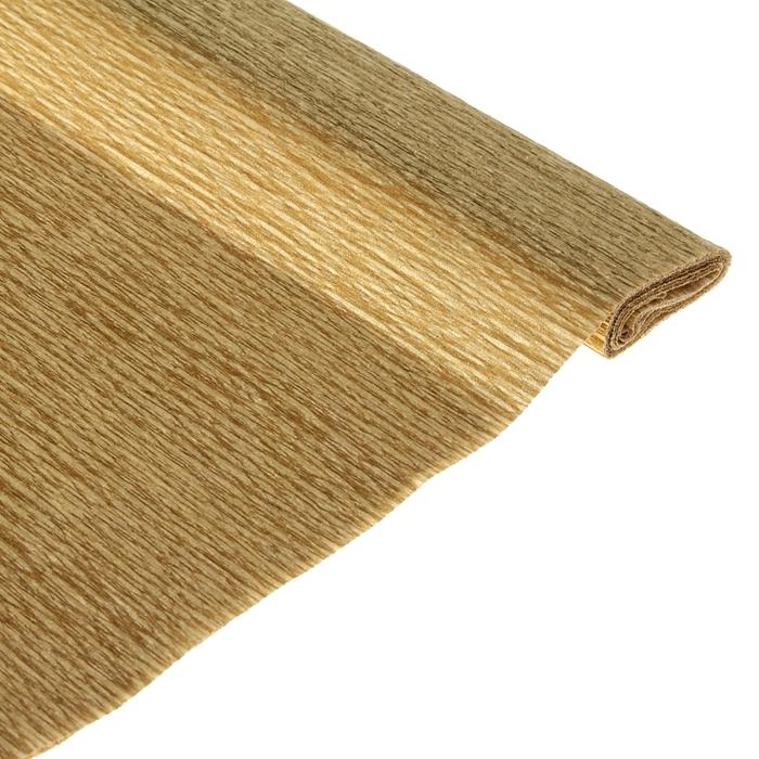 Бумага поделочная креповая золотая 0,50*1,5м
