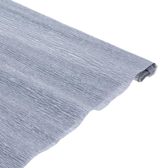 Бумага поделочная креповая серебряная 0,50*1,5м