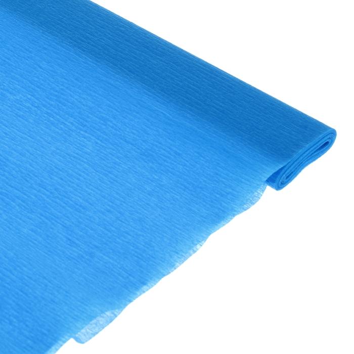 Бумага поделочная креповая бирюзовая 0,50*2,5м