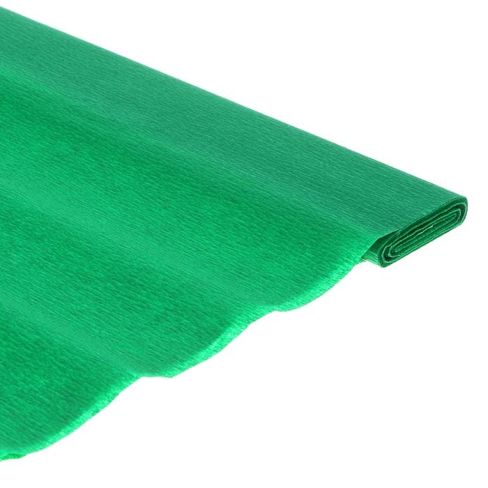 Бумага поделочная креповая зелёная 0,50*2,5м