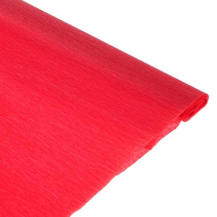 Бумага поделочная креповая красная 0,50*2,5м