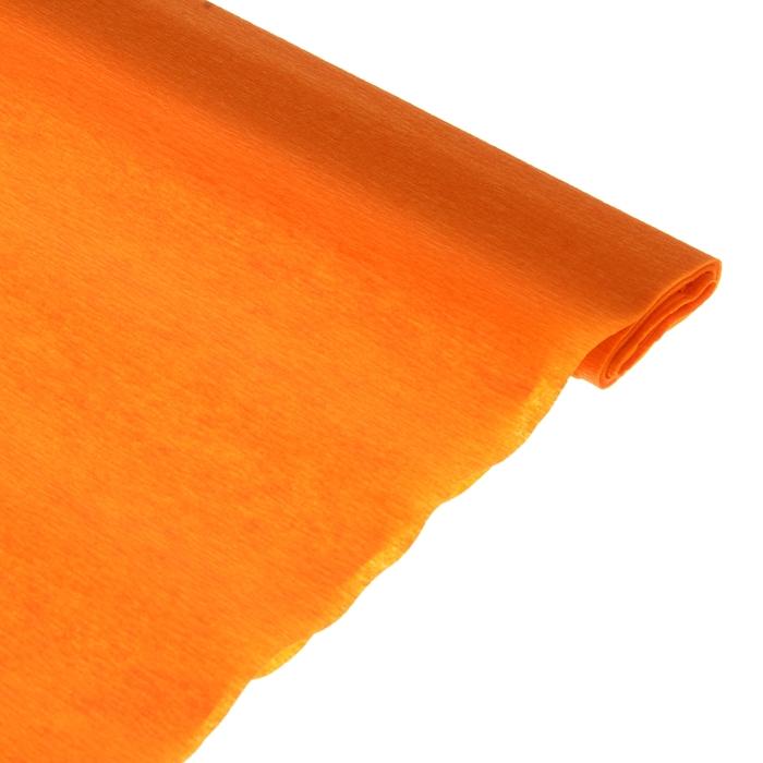 Бумага поделочная креповая оранжевая 0,50*2,5м