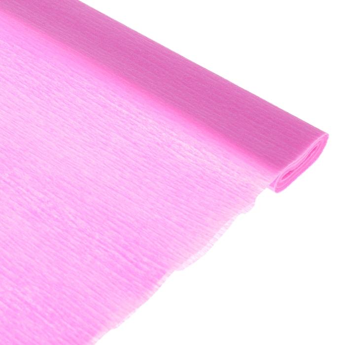Бумага поделочная креповая розовая 0,50*2,5м