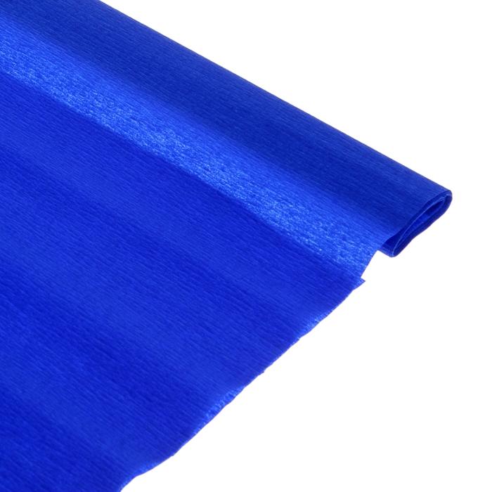 Бумага поделочная креповая синяя 0,50*2,5м