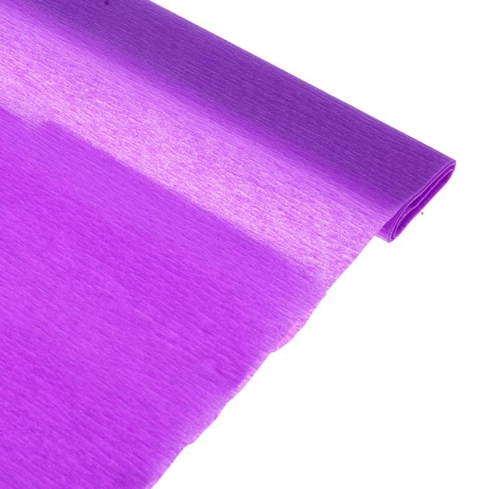 Бумага поделочная креповая сиреневая 0,50*2,5м