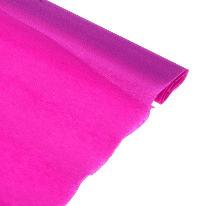 Бумага поделочная креповая фиолетовая 0,50*2,5м