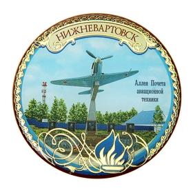 Магнит «Нижневартовск. Аллея почёта авиационной техники» в Донецке