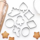 """Набор форм для вырезания печенья """"Кораблик, овал, крест, ромб"""", 8 шт - фото 221606708"""