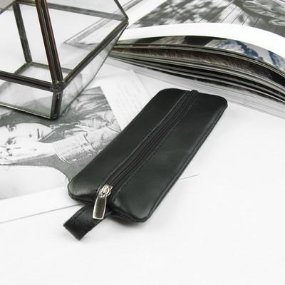 Ключница, отдел на молнии, металлическое кольцо, данс, цвет чёрный