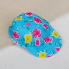 "Cap for dolls ""Flowers"" color blue"